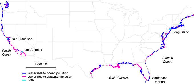 How To Ensure Clean Water Supplies Energyefficient Desalination - Saltwater intrusion map us