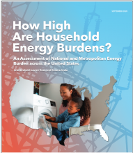 Report Cover for Energy Burdens 2020
